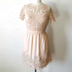 Dresses & Skirts - Pink Embroidered Dress
